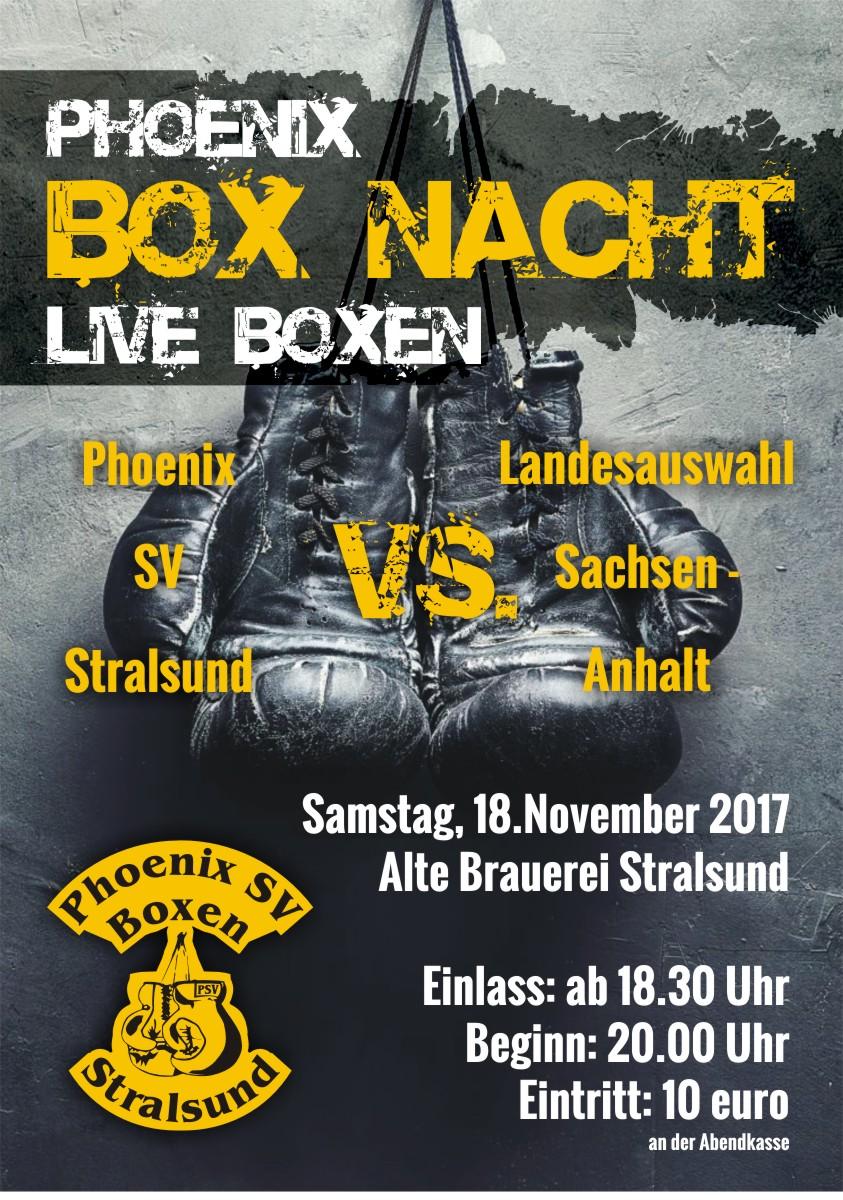 Plakat Boxnacht 2017